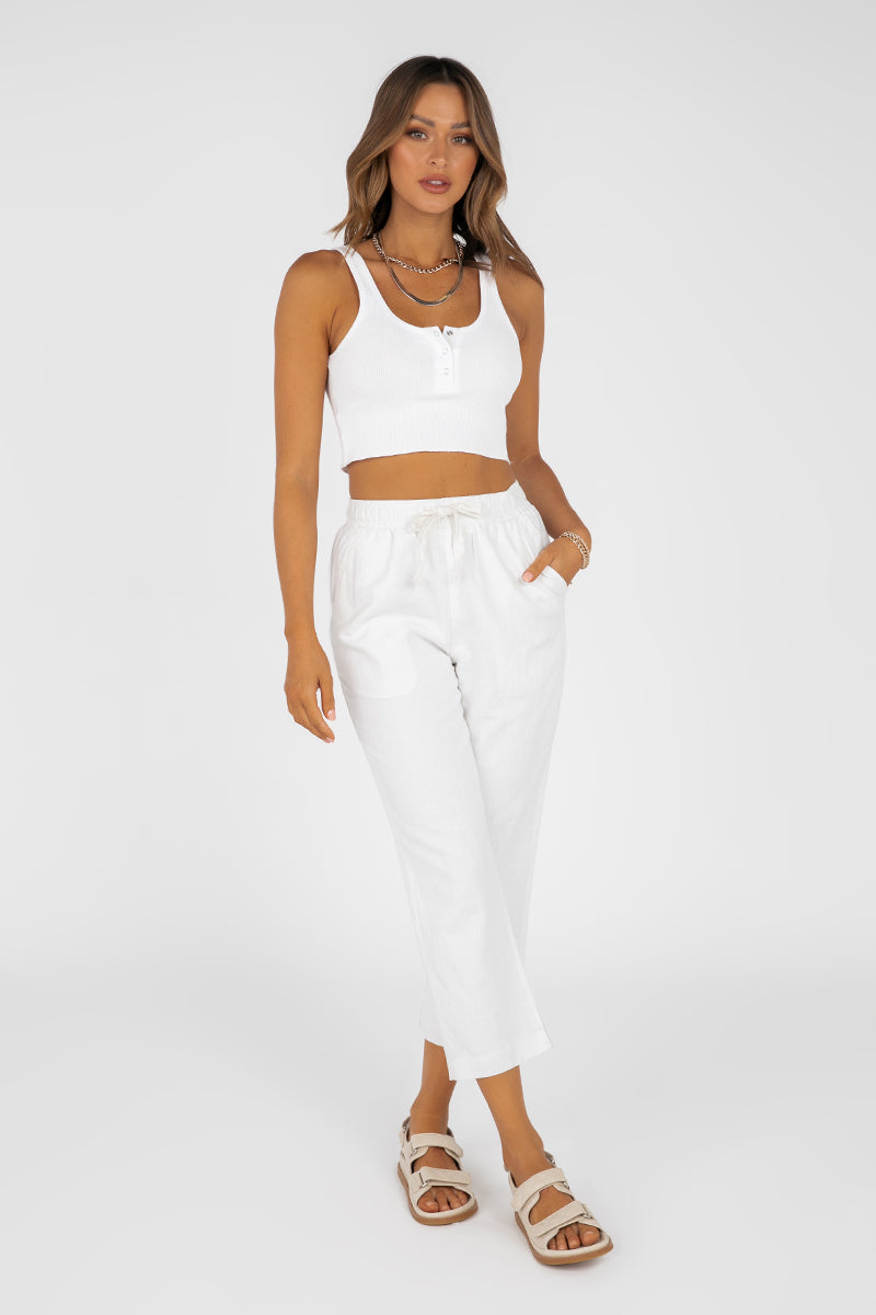 NUDE LUCY WHITE CLASSIC PANT