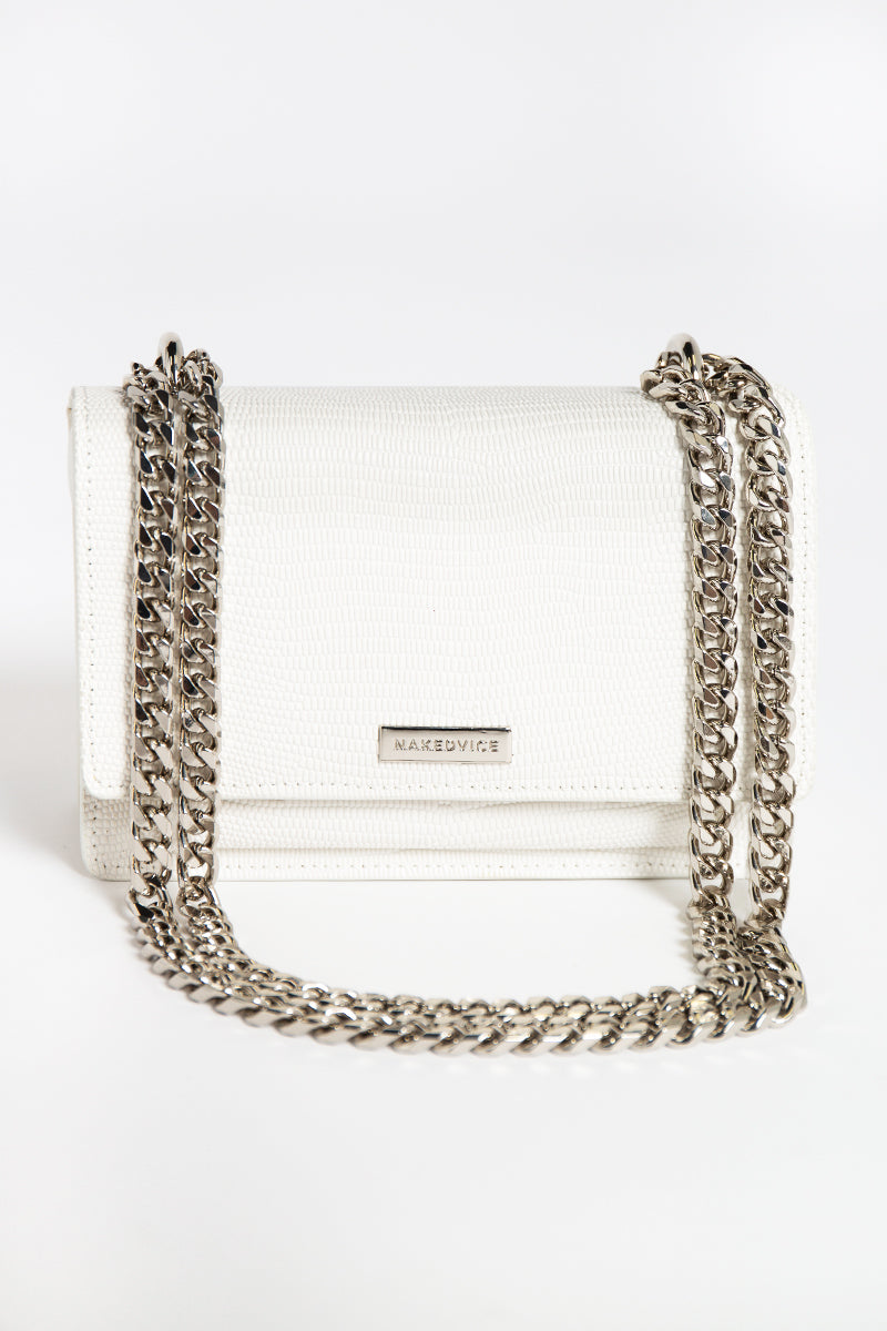NAKEDVICE REGIS WHITE SIDE BAG