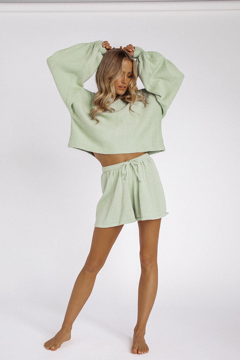 MOLLY SAGE KNIT SHORT