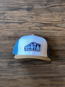 White Berta Trucker Hat | Brouhaha Lid Co