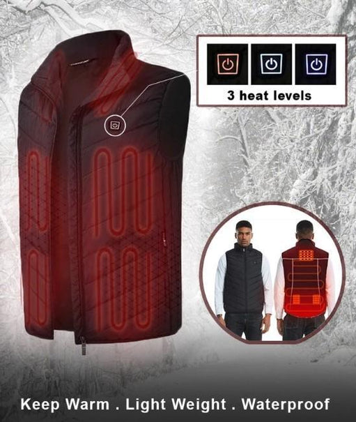 JACKHOT - UNISEX WINTER VEST WITH BATTERY HEATING SYSTEM