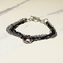 Load image into Gallery viewer, Leather & Chain Bracelet