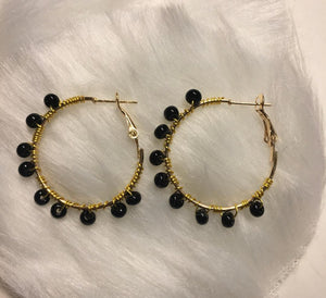 """Wrapped Up"" Gold Hoop"