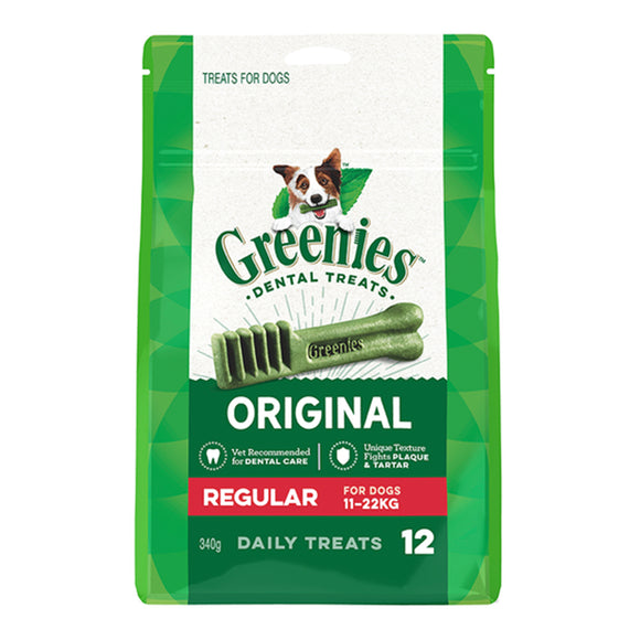 Greenies Dental Dog Treats Regular 340g