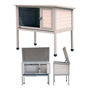 Pet One Small Animal Hutch N Run Timber