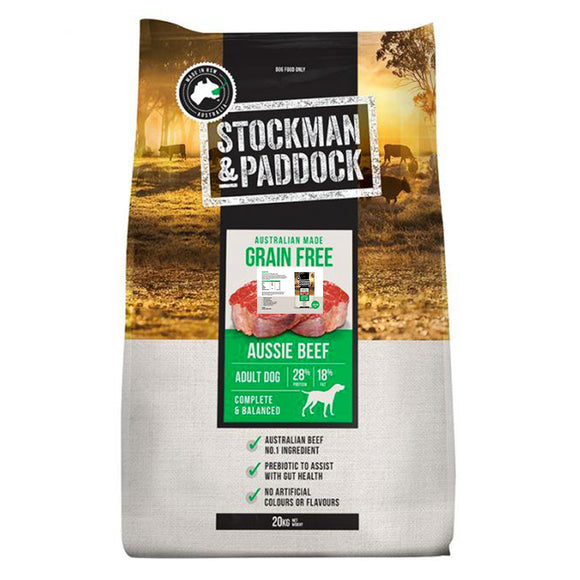 Stockman and Paddock Grain Free Beef 20kg