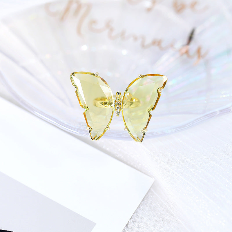 Glass butterfly ring - Devine jewels