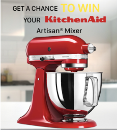 Win a Kitchen Aid Artisan Mixer!