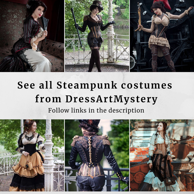 Steampunk Pirate Dress -dress-design-handmade-costume-Dress Art Mystery
