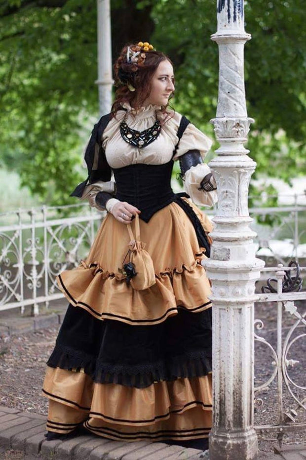 Madame Trentoni dress -dress-design-handmade-costume-Dress Art Mystery