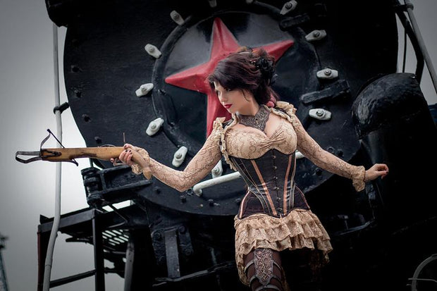 Steampunk tight lacing corset - Dress Art Mystery