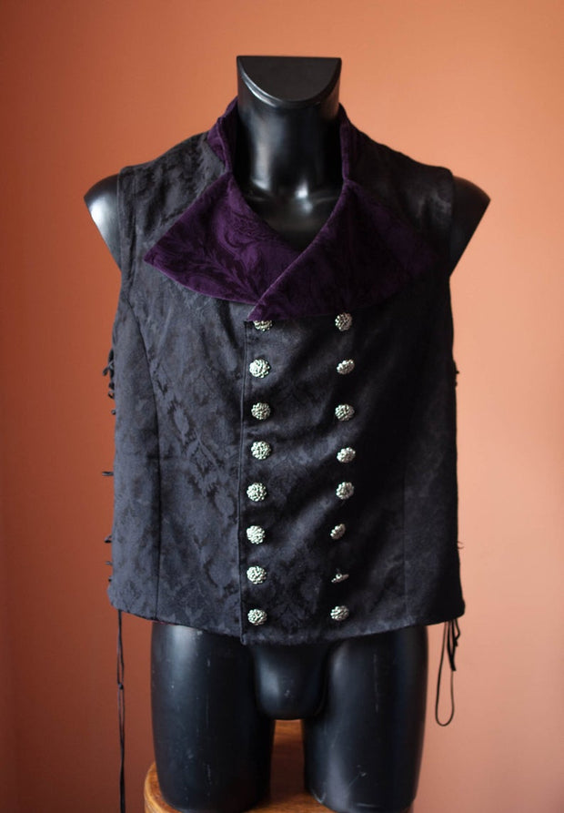 A Double-Breasted victorian gothic vest -dress-design-handmade-costume-Dress Art Mystery