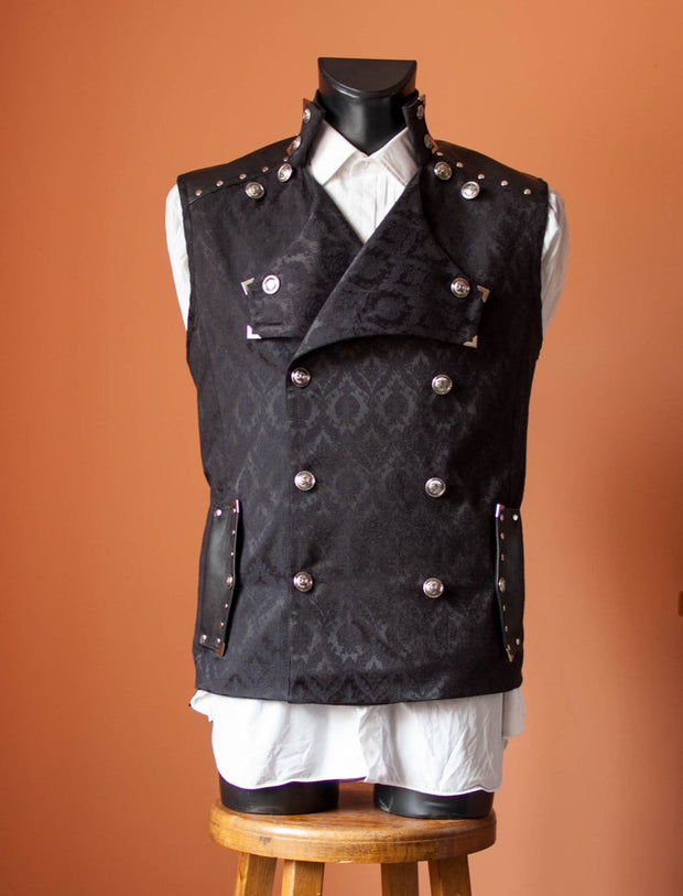 A Double-Breasted Steampunk Vest -dress-design-handmade-costume-Dress Art Mystery