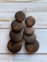 Load image into Gallery viewer, Boho Circle Wooden Earrings