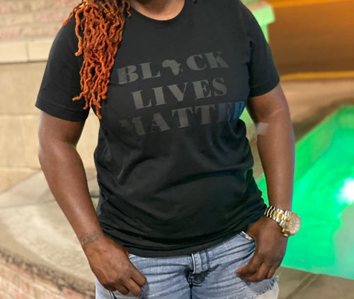 "Triple Black ""Black Lives Matter"" Tee"