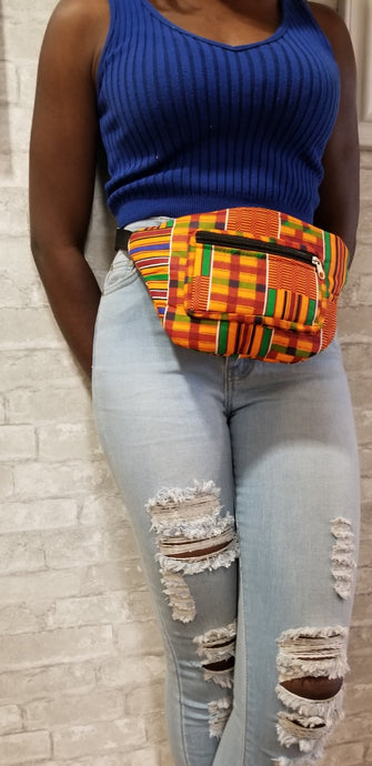 African Fanny Pack - Kente