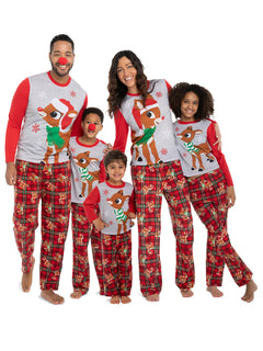 Family Christmas Pajamas Set Moose New 2020 Christmas Matching Family Outfits