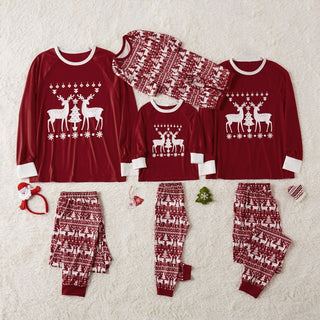 New Christmas style Hot Sale New 2020 autumn winter clothing Christmas Family Pajamas Set Sleepwear