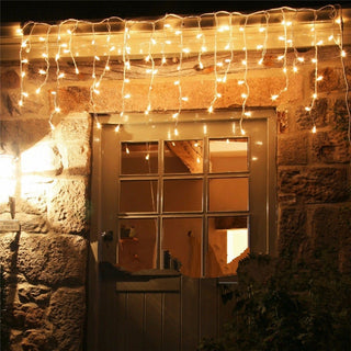 Christmas Outdoor Decoration Indoor and Curtain Icicle Led String Lights New Year Garden Party