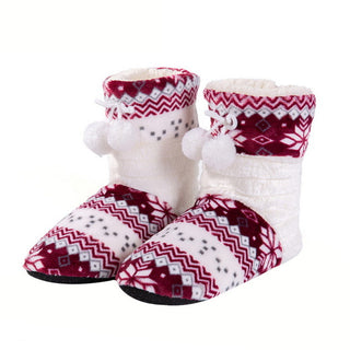 New Arrival Winter Shoes Women Home Slippers Girls Christmas shoes Indoor Shoes Warm Plush Cotton Slipper