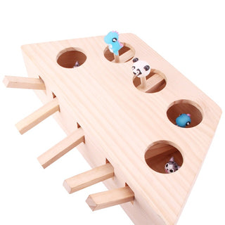 Solid Wood Ground Mouse and Cat Toys, Intelligence Toys For Cat, Recreation Fine Grinding