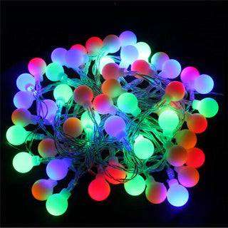 LED RGB garland String Fairy ball Light For Wedding Christmas holiday decoration lamp Festival outdoor lighting
