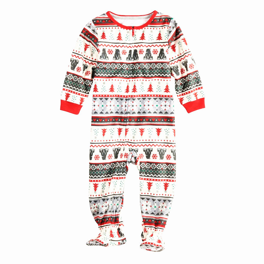 2020 Family Christmas Pajamas Set Winter Cotton Long Sleeve Sweater Shirt Xmas Family Matching Clothes
