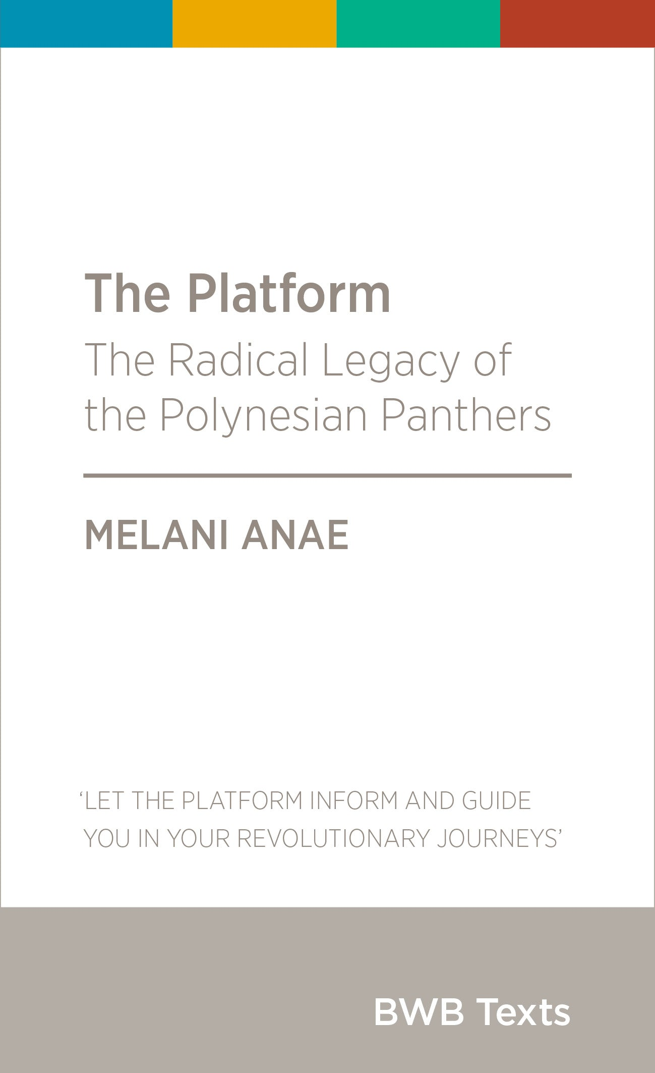Book: The Platform by Melani Anae