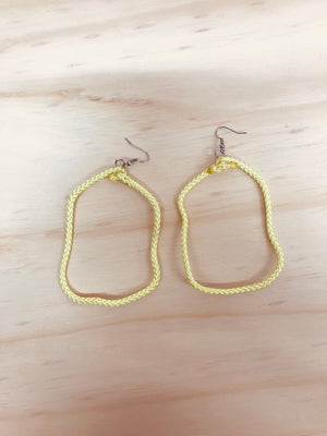 HYBRID CELLS - Shapeshifter Earrings Yellow (Large)