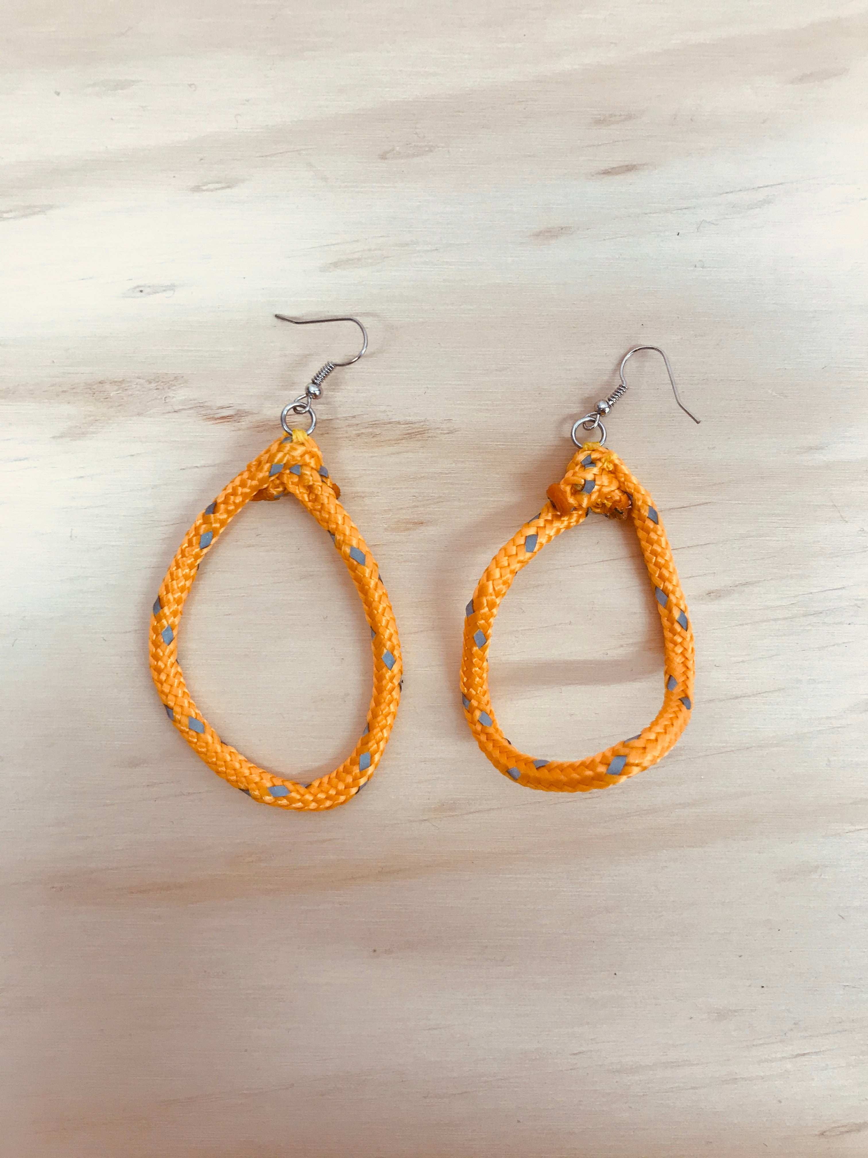 HYBRID CELLS - Shapeshifter Earrings Orange (Large)