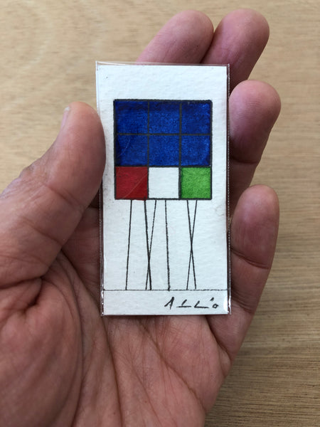 Rubik Cubes Series (12) - Watercolours on paper by Andy Leleisi'uao