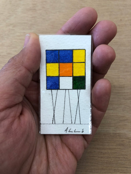 Rubik Cubes Series (13) - Watercolours on paper by Andy Leleisi'uao