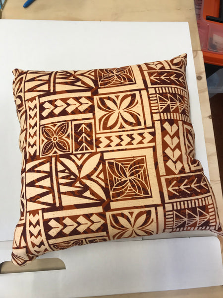 Brown Peach Cushion 45cm x 45cm
