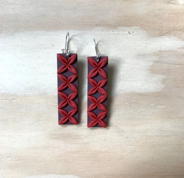 Tipani Bar Earrings Brown