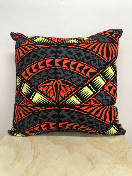 Moana Oa Peach/Grey/Yellow Cushion 65cm x 65cm