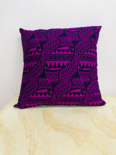 Purple & Black Cushion 45cm x 45cm by Moana Oa
