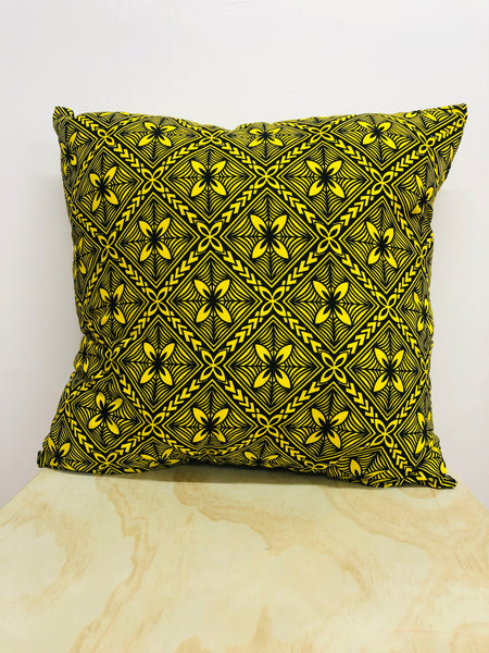 Moana Oa Yellow Cushion 65cm x 65cm