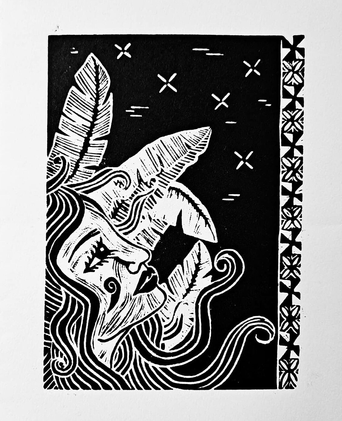 >>> Find Your Way Home <<<  Lino Print