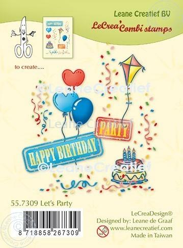 Lecreadesign Combi Clear Stamp Let'S Party