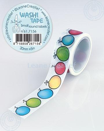 Washi Tape Small Round Labels 20mm x 5m