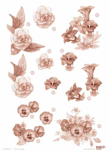 Copper Flowers -Assorted Flowers