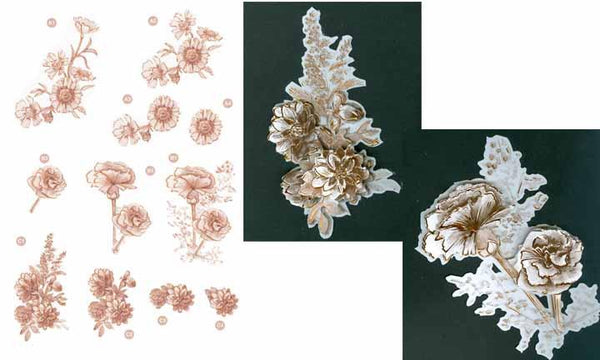 Copper Flowers -Carnations