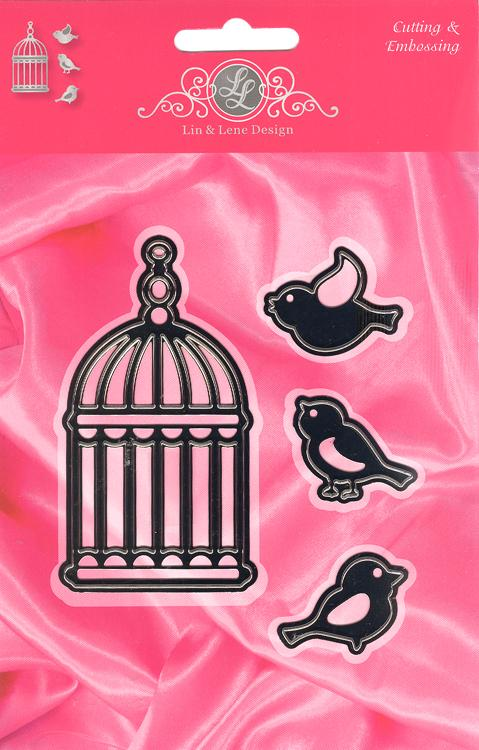 Joy! Crafts Cutting & Embossing Set -Birds and Bird Cage