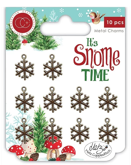 It's Snome Time - Metal Charms - Snowflakes