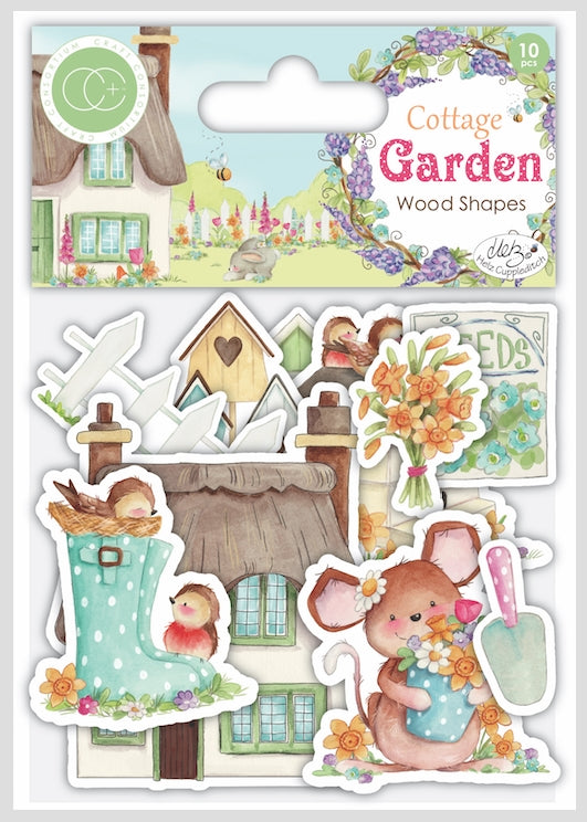 Cottage Garden - Wooden Ephemera Shapes