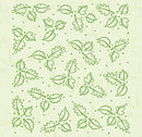 Embossing Folder Background Leaves