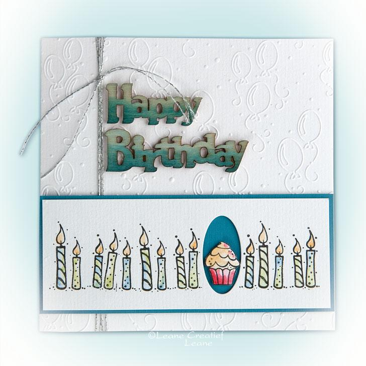 LeCrea Embossing Folder - Background Balloons