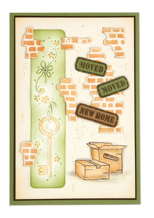 LeCrea Border embossing folder Door key