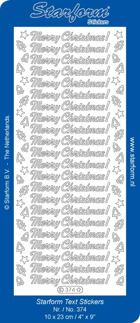 Deco Stickers - Text - Merry Christmas!