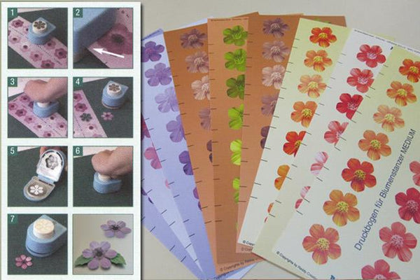 Floral Punch preprinted sheets
